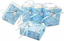 JZK 24 x Blau Gastgeschenk Süßigkeiten Schachtel