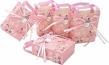 JZK 24 x Rosa Gastgeschenk Süßigkeiten Schachtel