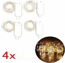 JZK 4 x 2 meter 20 klein LED Lichterkette leuchten String Lights batteriebetrieben, außen oder innen String Licht dekoration für Hochzeit Geburtstag Feier Party Weihnachten Festival, Warmweiß