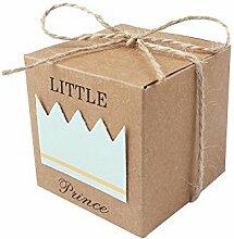 JZK 50x Little Prince Kraft Papier Geschenkbox