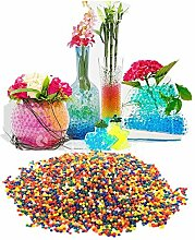 JZK® 7000 stück magische mischfarben wasser kugeln water Perlen Wasserperlen Gelperlen Aquaperlen Hydroperlen Vaseenfüller, Dekoration für hochzeit, Geburtstag, Festival, Party, Möbel etc.