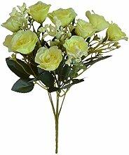 JZSHB Lila Blühende Künstliche Blumen Rose
