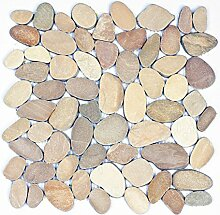 K-1-557 - 1m² = 11 Kieselstein Mosaikfliesen