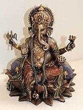 k.a. Ganesha auf Lotos Thron, eindrucksvolle Figur