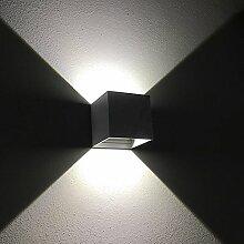 K-Bright 12W Dark Gray Cube LED Außenwandlampen,