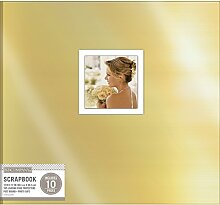 K & Company kandcompany Folie Post Bound Fenster Album 12Zoll x 12-inch-gold, andere, mehrfarbig
