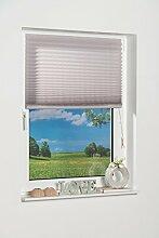 K-home Klebe-Plissee  Grau Lichtschutz 110 x 130 (B x L)