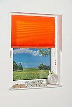 K-home Klebe-Plissee  Terracotta  Lichschutz 70 x 210 (B x L)