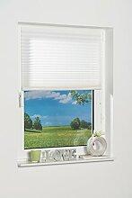 K-home Klebe-Plissee  Weiß  Lichschutz 80 x 210 (B x L)