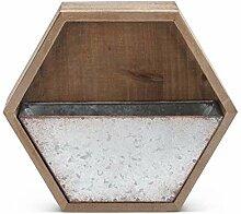 K&K Interiors 15361A-1 Mülleimer aus Zinn und