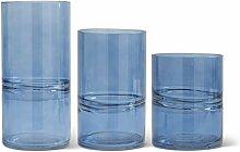 K&K Interiors 16361B Zylindervasen aus Glas, mit
