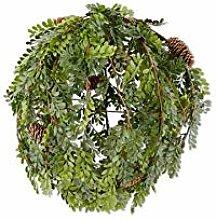 K&K Interiors 54550G Buchsbaum mit Tannenzapfen