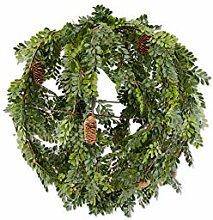 K&K Interiors 54550I Buchsbaum mit Tannenzapfen