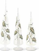 K&K Interiors Tischbäume, Glas, schneebedeckt,