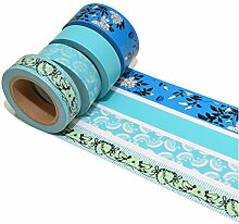 K-LIMIT 4er Set Washi Tape Dekoband Masking Tape Scrapbooking Geschenkidee 9320
