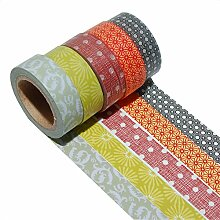K-LIMIT 5er Set Washi Tape Dekoband Masking Tape Geschenkidee 9300