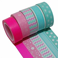 K-LIMIT 5er Set Washi Tape Dekoband Masking Tape Geschenkidee 9530