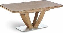 K+W Möbel Massivholztisch Wave ***AM LAGER*** Tisch 5037 2C mit Massivholzplatte und beidseitigem Auszug ***AM LAGER***