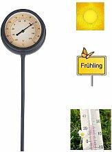 K2M Gartenthermometer 50cm Metall schwarz