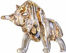 K9 Kristall Wall Street Bull Figur Glas Fengshui