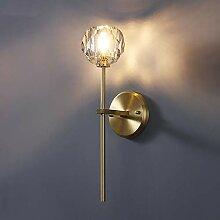 KAAK Goldene Nordic Kupfer Wandlampe Kristallkugel