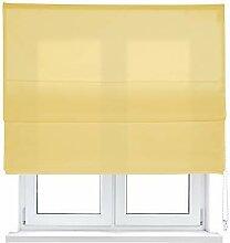 Kaaten Faltrollo mit Stäben, Canvas-Gewebe, Gelb