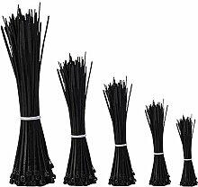 Kabelbinder, KoTop 500 Pcs schwarz Nylon Selbsthemmung Kabelbinder f¨¹r Home Office Garage Garten und Werksta
