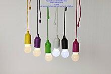 kabellose LED-Birne Led Lampe Lila mit Zugschalter