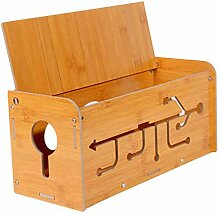 Kabelsammler aus Holz, Kabel-Management-Box,