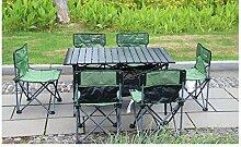 KaBurger Gartenmöbel Set,7-teilig Balkontisch