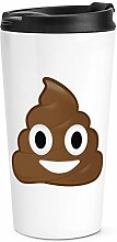 Kacke Kacke Emoji Reise Becher Tasse