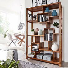 KADIMA DESIGN Bücherregal Wood Massiv Sheesham