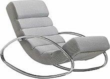 KADIMA DESIGN Relaxliege Grau/Silber 110kg