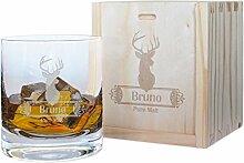 Kadocom Set Glas Whisky-Gravur Hirsch