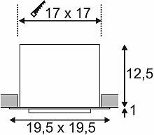 KADUX LED Single DL Set, mattweiss, 30°, 3000K,