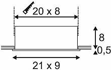 KADUX LED Triple DL Set, mattweiss, 38°, 3000K,