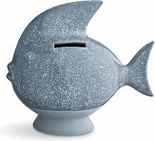 Kähler Design - Spardose Fisch, graublau