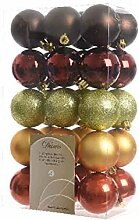 Kaemingk Box 30 Weihnachtskugeln aus Kunststoff 6