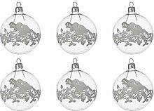 Kaemingk Christbaumkugeln Weihnachtskugeln Glas