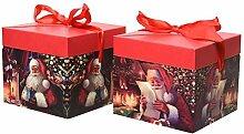 Kaemingk Geschenkbox Weihnachtsmann mit Deckel und