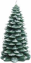 Kaemingk Große Kerze in Weihnachtsbaumform,
