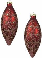 Kaemingk Große Luxus-Christbaumkugel aus Glas,