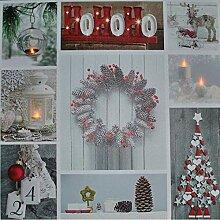 Kaemingk LED-Wandbild 'Weihnachten' 50x50cm
