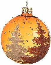 Kaemingk Weihnachtsbaumkugel aus Glas, glitzernd,