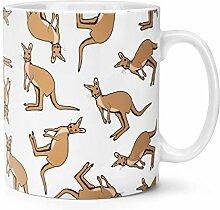 Känguru Muster 283g Becher Tasse