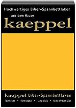 KAEPPEL Biber-Spannbettlaken gelb 100X200 CM