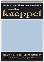 KAEPPEL Biber-Spannbettlaken hellblau 100X200 CM