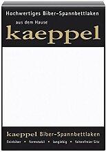 KAEPPEL Biber-Spannbettlaken weiß 100X200 CM