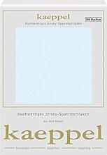 Kaeppel Elasthan Jersey Spannbetttuch , Größe:90x200-100x200 cm;Farbe:323 Ciel
