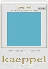 Kaeppel Elasthan Jersey Spannbetttuch , Größe:90x200-100x200 cm;Farbe:325 Türkis